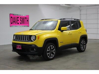 2016 Jeep Renegade  16 Jeep Renegade Latitude Four-Wheel Drive Auto Keyless Start Bluetooth