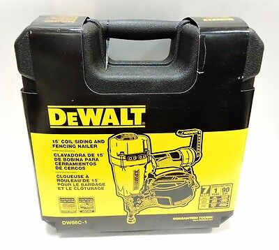 (MA3) Dewalt DW66C-1 Pneumatic 15-Degree Coil Siding Nailer-Free Shipping