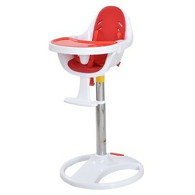 Height Baby Durable Feeding Dining Pedestal High Seat Chair Adjustable 3 Colors