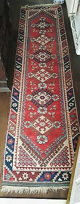Antique Hand Knotted 1920,s 30,s Persian hall Runner Rug