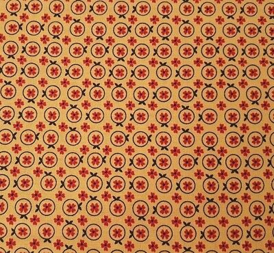 Bristol BTY Antiquities Quilting Treasures Paisley Floral Wine Terra Cotta Ivory