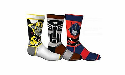 Transformers Boys Optimus Prime 3-Pack Crew Socks    SK206B    NEW