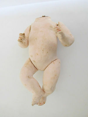 "Antique German 6.5"" Composition Baby Body Parts Doll Hospital"