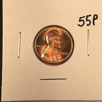 1955 P Lincoln Wheat Cent Gem BU from OBW roll