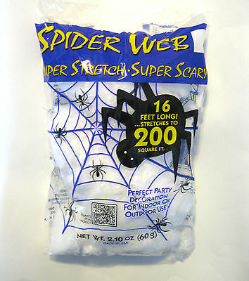 Super Spider Web  200 sq Feet  Halloween Party Prop Decoration See Demo Video