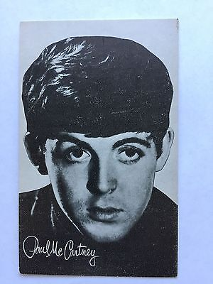 1960's Paul McCartney The Beatles Exhibit Arcade Card Nice Condition