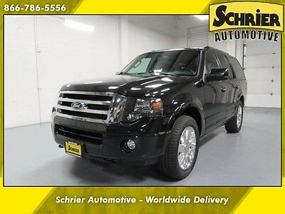 2014 Ford Expedition Limited Sport Utility 4-Door Expedition Black 4WD Power Running Boards Power Lift Gate 8 Passenger