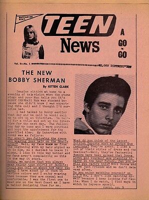 Teen News Vol. II -- No. 1, 2, 3  RARE ORIG Buffalo N.Y. 1966 Back Issues (NM)