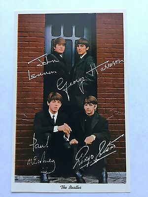 1964 News Enterprises LTD Postcard The Beatles Lennon, McCartney, Harrison,Starr