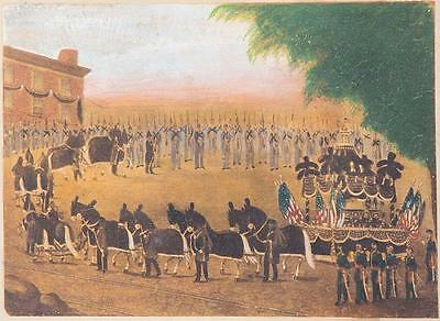 Color Lithograph - Funeral Car of President Lincoln, New York, April 26th, 1865