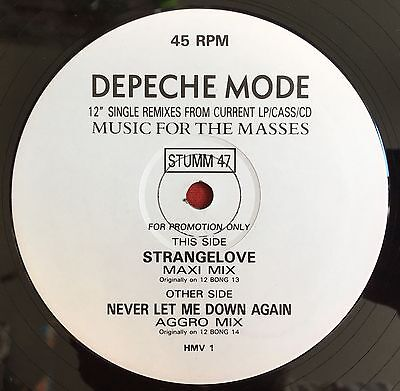 "DEPECHE MODE -Strangelove/Never Let Me Down Again- 2 Track UK Promo 12"" (Vinyl)"