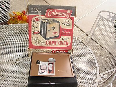 Vintage Coleman Camp Oven w/Original Box Camping Stove Cooking  NEVER USED