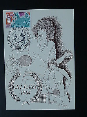 table tennis French cup maximum card 1984