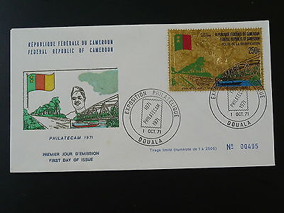 bridge gold stamp FDC Cameroon 74011