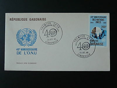 40 years of United Nations UNO FDC Gabon 74244