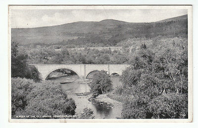A Peep Of The Old Bridge Grantown On Spey JB White 7707 Old Postcard Unposted