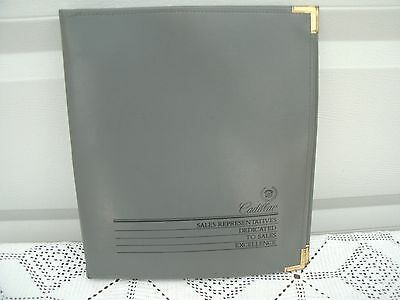 CADILLAC Logo  BINDER --Sales Promo Gift for Sales People