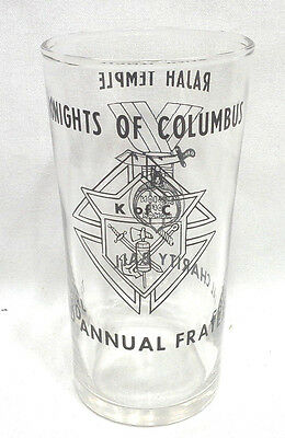 Nice Knights of Columbus 3th. Annual Fraternal Charity Ball Beverage Glass