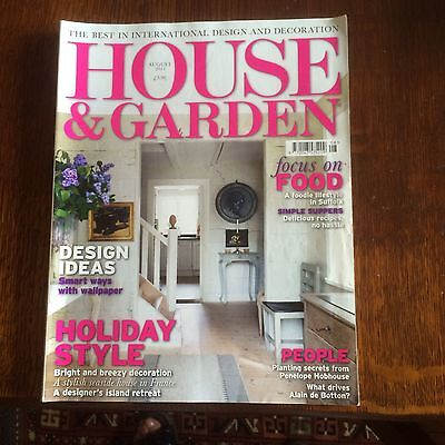 House And Garden Magazine August 2011 Holiday Style