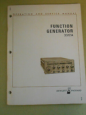 Hewlett Packard Function Generator 3312A Operating And Service Manual