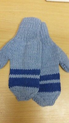 Childrens Gloves Hand Knitted From Age 5 Upwards