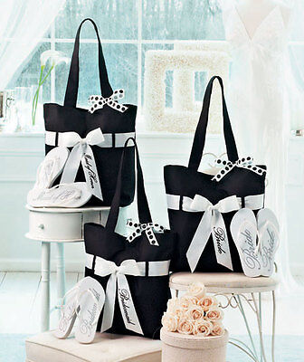Wedding Tote And Flip-Flop Set Fashinable Bag Cute Gifts For Your Wedding Party