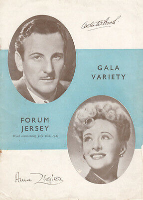 Webster Booth and Anne Ziegler at Jersey in 1949 Theatre Programme