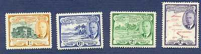 St. Kitts-Nevis 1952-#107/112-KING GEORGE VI-GROUP OF 4-MNH