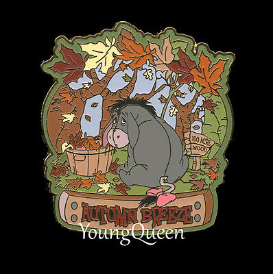 WDW Disney Eeyore Sitting in a Pile of Leaves Autumn Breeze Le Pin