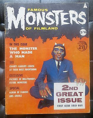 FAMOUS MONSTERS OF FILMLAND 1 uk edition vg Condition