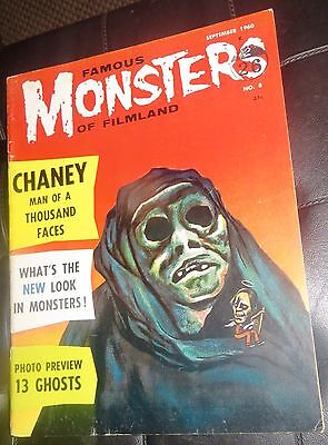 FAMOUS MONSTERS OF FILMLAND 8 uk edition Nice Condition See Description