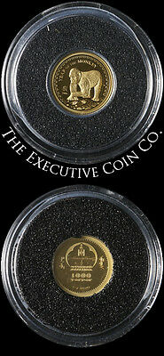 2016 Mongolia - Year of the Monkey - 1000 Togrog 1/2 gram Gold Coin Proof