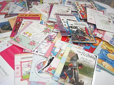 Large Bundle Of140 Greetings Cards--Birthday-Age & Relations-Anniversary   Lot C