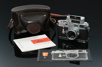 Leica M3 Double Stroke 35mm Rangefinder Camera Summicron 50mm lens M 3 DS 1955