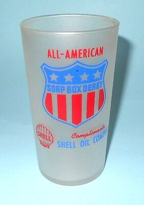 1950 Shell Gasoline Sponsored American Soap Box Derby Souvenir Drinking Glass