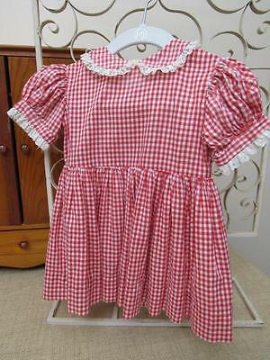 Vtg Ideal 1959-61 Patti Playpal Doll RED Check DRESS ONLY