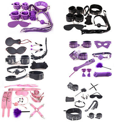 Fantasy Adults Sex SM Toy Handcuffs Strap Whip Rope Neck Bandage Restraint Kits