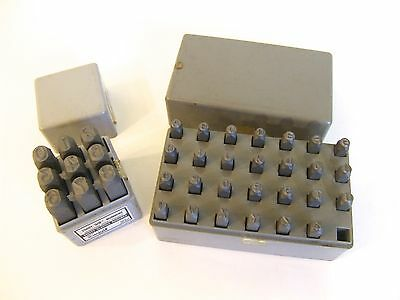 """Set of 2 Hanson Standard Steell Hand Stamps  3/16"""" Letters and 3/8"""" Numbers"""
