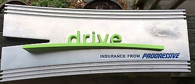 Drive Insurance From Progressive Aluminum Plaque Wall Hanging *ADVERTISEMENT*