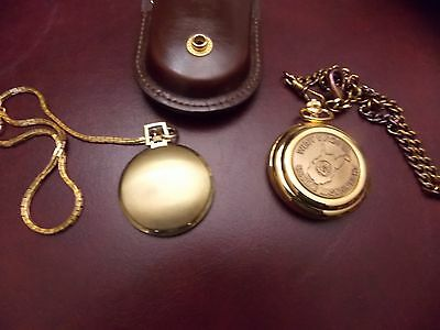 Lot Of Two Pocket Watches West Va Masonic  With Case Chain