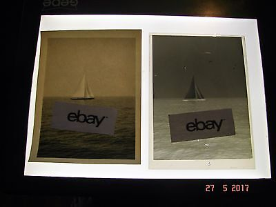 1930s Photo and Negative, J Class Yacht, Endeavour, JK4, Off Marblehead, Ma