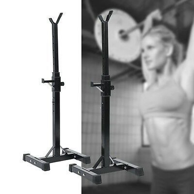 Gym Squat Barbell Power Rack Stand Press Weight Bench Sports Workout