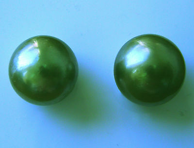 10.1mm TAHITIAN BLACK PEARLS PAIR 100% UNTREATED UNDRILLED+CERTIFICATE AVAILABLE