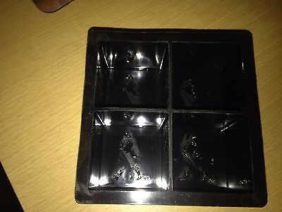 Johnnie Walker Scotch Ice Cube Mold makes 4 ice large ice cubes New Bar promo