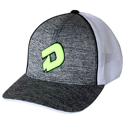 DeMarini D Logo Heather Baseball/Softball Trucker Hat - Heather Grey/Neon - L/XL