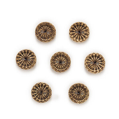 30pcs 2 Hole Coconut Buttons Stamp Decor Handwork Sewing Scrapbooking 12mm