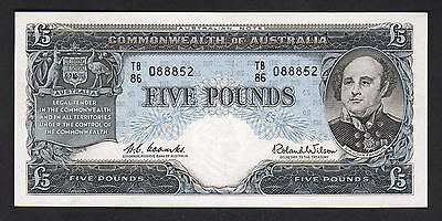 Australia R-50. (1960) Five Pounds - Coombs/Wilson..  Reserve Bank.. VF