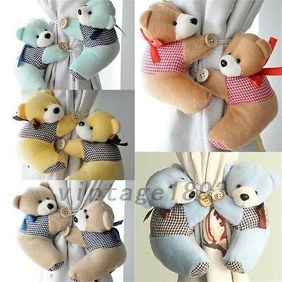 2Pcs Baby Bedroom Plush Bear Curtain Tieback Holder Hook Buckle Decor Hot