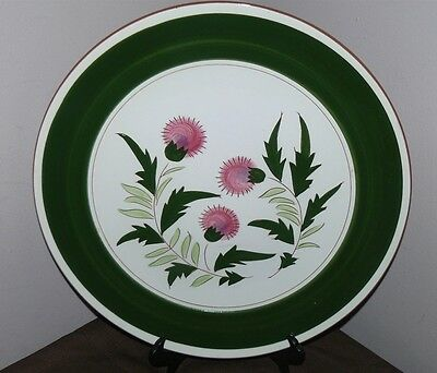 """Stangl Pottery Trenton NJ Pink Thistle 14"""" Chop Plate Platter Charger"""