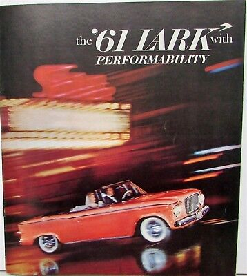 1961 Studebaker Lark Extra Large Color Sales Brochure Orig With Performability